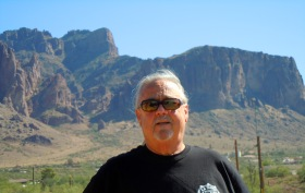 Don in front of Superstition Mountain