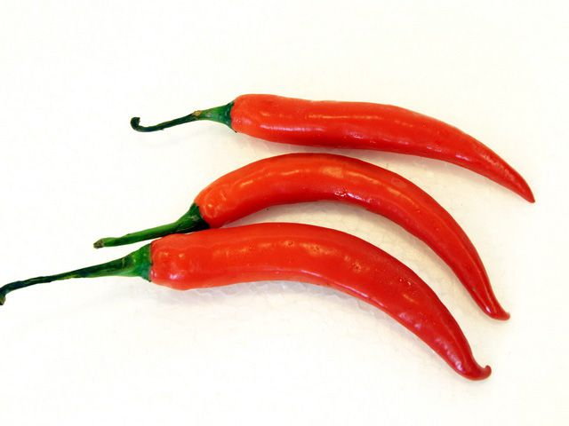 Scoville Ratings for Hot Peppers